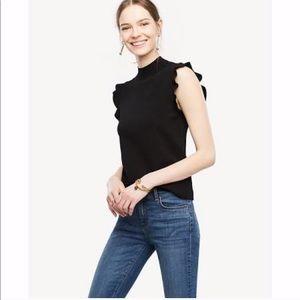 Ann Taylor - Ruffle Sleeve Sweater Top